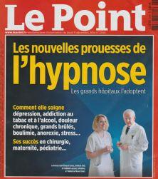 Article Le Point de Mai 2013 concernant l'hypnose dans le cadre hospitalier.